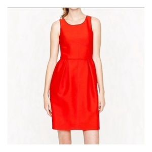 J.Crew Coral Fit and Flare Allie Dress